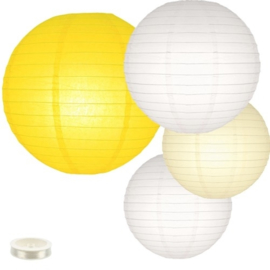 Lampionnen pakket geel 35 lampionnen