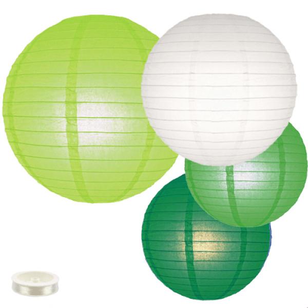 Lampionnen pakket groen 35 lampionnen