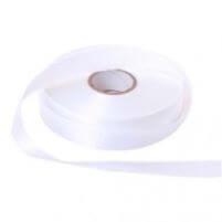 Satijn lint wit 25 mm breed - 25 meter