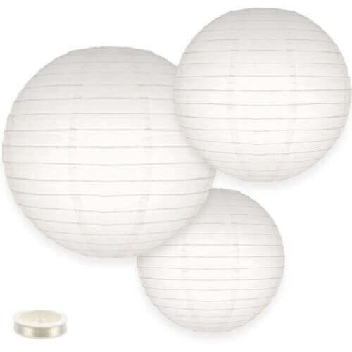 Lampionnen pakket wit 35 lampionnen