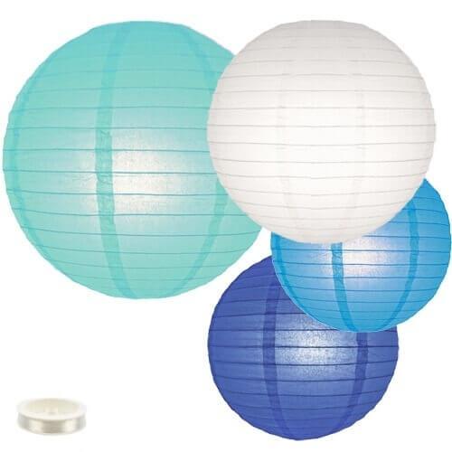 Lampionnen pakket blauw 35 lampionnen