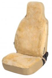 Autostoelhoes Schapenvacht Highback Beige