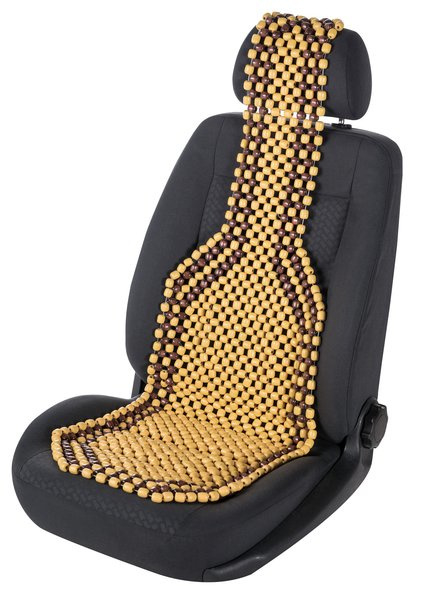 Kralenzitting voor autostoel - naturel