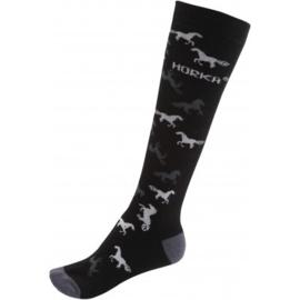Sokken paard | zwart/grijs