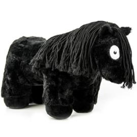 Crafty Pony paarden knuffel | zwart met zwarte manen | 48 cm