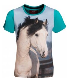 Paarden shirt Horsy | turquoise