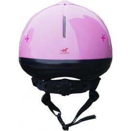 RH verstelbare kinder paardrijcap Rider   roze