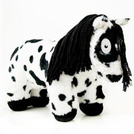 Crafty Ponies paarden knuffel  zwart bont   48 cm