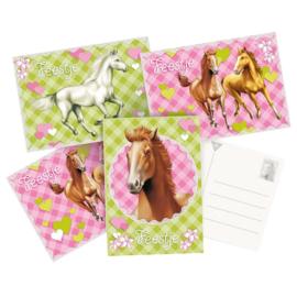 Uitnodigingen  Paarden 6 stuks