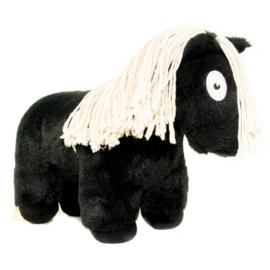 Crafty Pony paarden knuffel | zwart | 48 cm