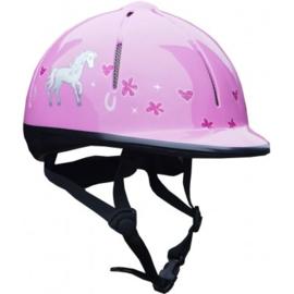 Paardrijcap Rider Helmet Roze Red Horse