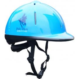 Paardrijcap Rider Helmet Blauw Red Horse