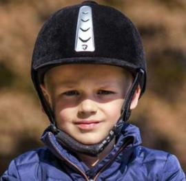 Horka paardrijcap Hawk fluweel | GRATIS captasje
