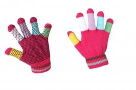 RH Paardrijhandschoenen Magic | Roze Multi