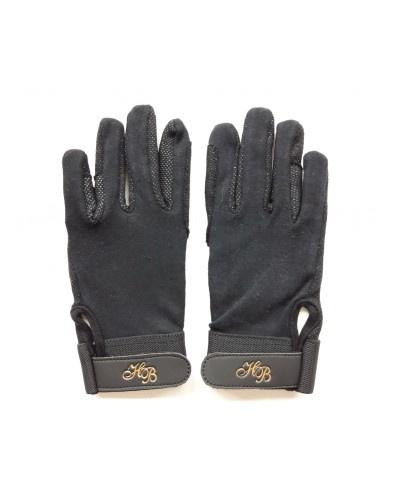 HB handschoenen katoen   zwart