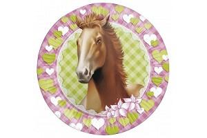 Feestborden Paard   8 stuks