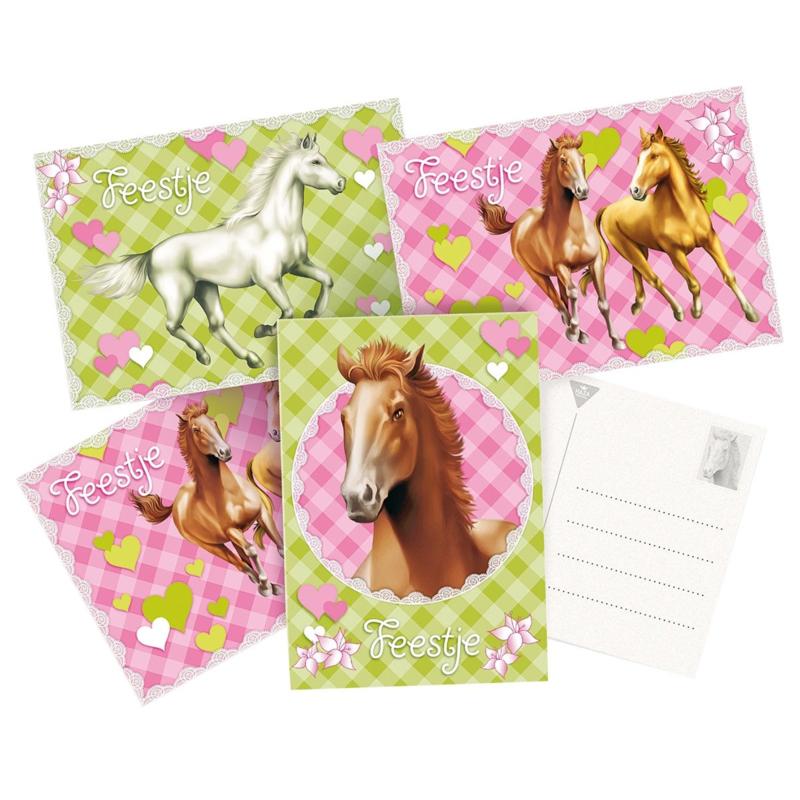 Paarden uitnodigingen | 6 stuks
