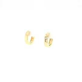 Vierkante Gouden Creolen   Klein