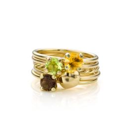 Stapel Groen & Bruin | 5 ringen