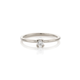 Diamanten Aanschuifring 0.15ct | Palladium Witgoud