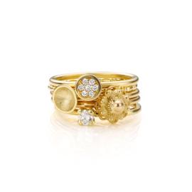 Stapel Goud en Diamant | 5 ringen