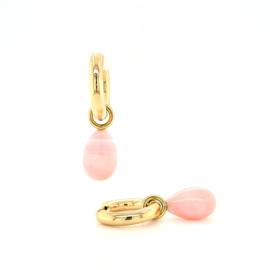 Creoolhangers met Roze Opaal
