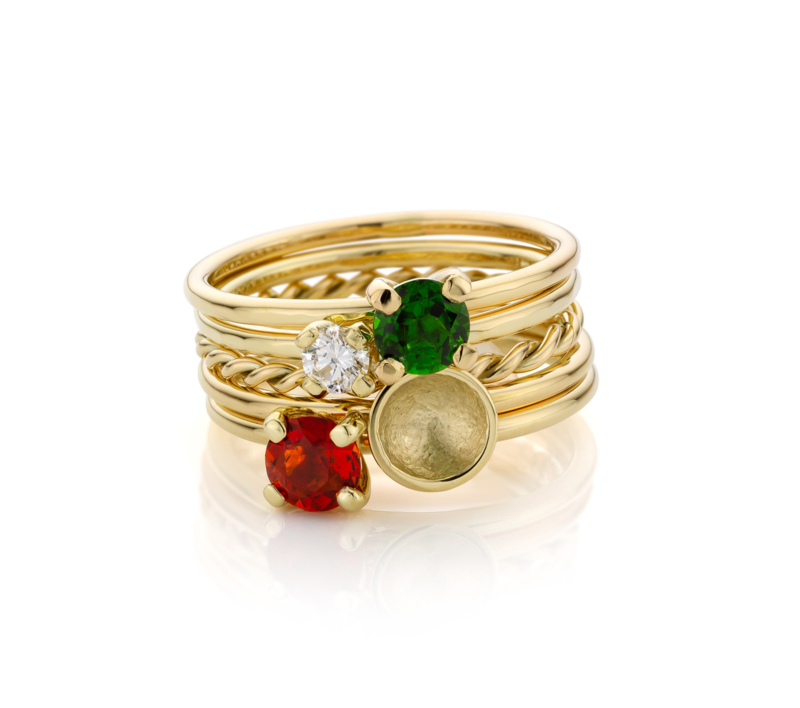 Stapel Groen & Oranje | 5 ringen