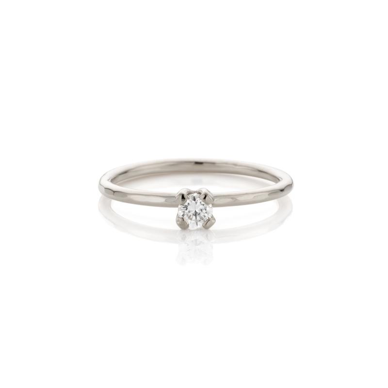 Diamanten Aanschuifring | Palladium Witgoud