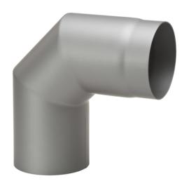 90 graden dikwandig staal 2mm grijs/antraciet