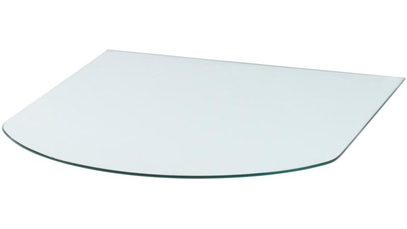 VLOERPLAAT HALF ROND GLAS 80cmx80cm
