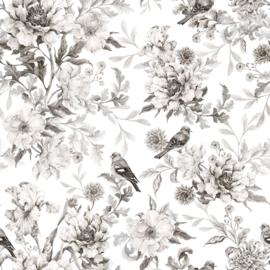 'Romance black & white ' Behang