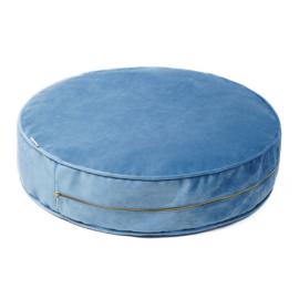 Blue Velvet pouf- Large
