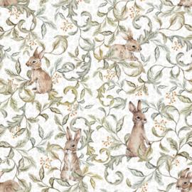 'Rabbits Groove Light ' Behang