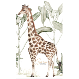 Wandsticker Giraffe Savanna Adventure