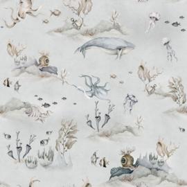 Underwater World Grey wallpaper