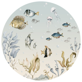 Wandsticker Sea World In A Circle