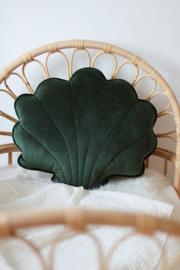 XL Velvet sierkussen schelp, 'Emerald Green' -MoiMili