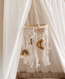 Macrame Babymobiel Rainbows & Moons