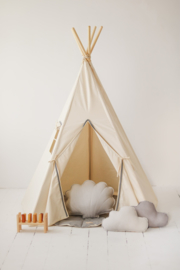 Tipi Tent 'Grey Pompom '