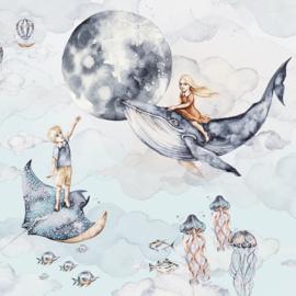 Ocean Deep- -Girl & Boy Behang