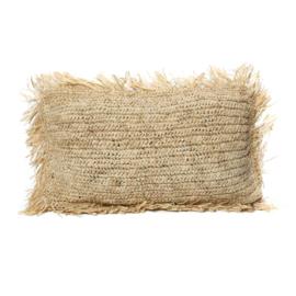 The Raffia Cushion Rectangular Natural