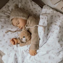 Leaves & White  beddingset  -120 x 90 cm, 40 x 60cm