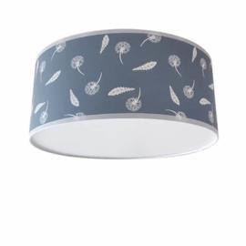 Plafondlamp Zwevende Paardenbloemen en Veren Oud Blauw