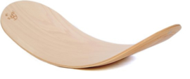 Rocker Board Moon Lacquered Stepped Natuur Viltkleur Okergeel