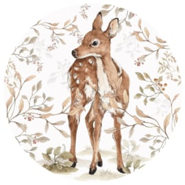 Wandsticker Deer In A Circle