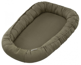 Cotton & Sweets Linnen babynest Pure Nature-Olive