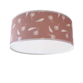 Plafondlamp Zwevende Paardenbloemen en Veren Oud Roze