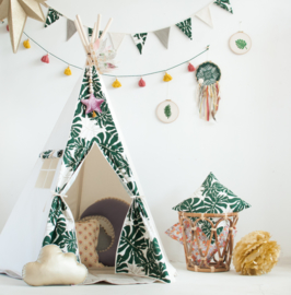Tipi Tent 'Classic' Green Leaves