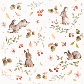 'Happy Rabbits ' Behang
