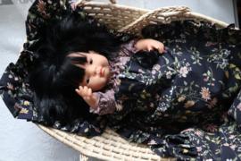 Babypop Beddengoed set - Black Flowers